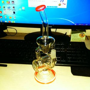 Recycler Perc Glass Smoking Pipe (EL-ZJ15) pictures & photos