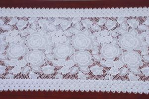 PVC Lace Table Runner with Gold/Silver Coated (JFBD-008B) pictures & photos