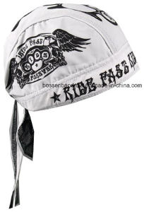 Factory OEM Produce Custom Logo Printed Pirate Bandana Head Wrap pictures & photos