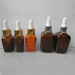 Square Brown Glass Essential Oil Bottle with Dropper (NDB06) pictures & photos