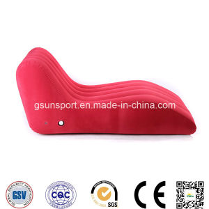 Inflatable S Shape Sofa Flocked PVC Sofa pictures & photos