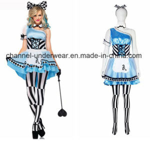 Sexy Adult Women Dress Crazy Mad Hatter Party Costume (TG5286) pictures & photos