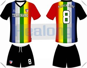 Iridescent Stripe Individual Design Heat Transfer Football Jersey pictures & photos