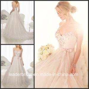 Spaghetti Sparkle Wedding Dress Red Beading Bridal Gown W15246 pictures & photos