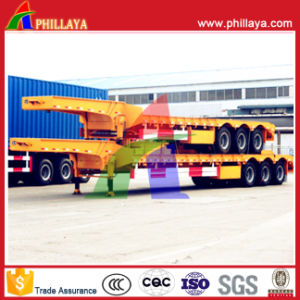 Phillaya Made 3 Axles 60tons Heavy Duty Lowbed Semi Trailer pictures & photos