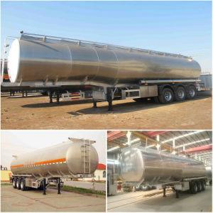 Gooseneck 45000L~54000L +6% Aluminum Tank Trailer 3 Axle