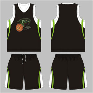 Black Color Custom Design Basketball Uniform for Club pictures & photos