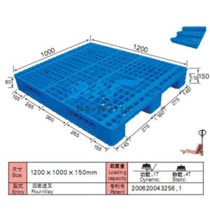 3 Runners Plastic Pallet Dw-1210A2 pictures & photos