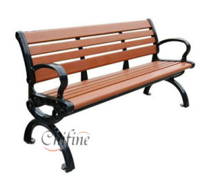 Outdoor Wooden Cast Iron Park Garden Bench pictures & photos