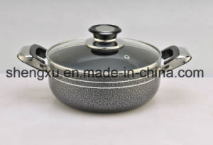 Non-Stick Ceramic Coated Aluminum Sauce Pot Energy-Saving Pot Cookware Sets Sx-A009 pictures & photos
