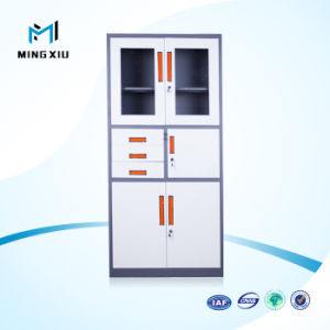 Luoyang Mingxiu Metal Storage Filing Cabinet 2 Door Glass Steel Office Cabinets pictures & photos