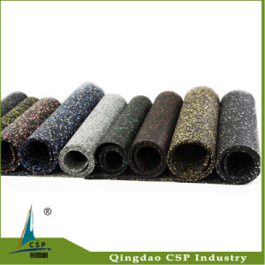 Noiseproof 8mm Gym Rubber Flooring Roll pictures & photos