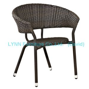Garden Furniture Black Poly Rattan Chair pictures & photos