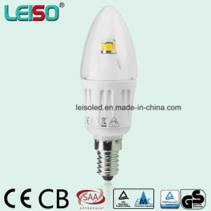 4W 90ra Widest Beam Angle E14 Scob CREE Chip LED Candle Lamp (LS-B304-B-CWWD/CWD) pictures & photos