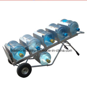 Hand Moving Steel Bucket Hand Trolley for 5 Gallon Water Bottle pictures & photos