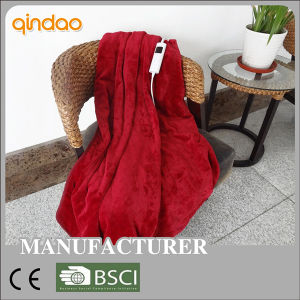 Full Size Qualified Flannel Heated Electric Throw Blanket pictures & photos