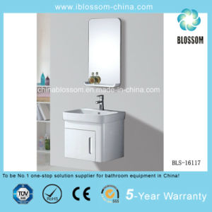Simple Wall Mounted PVC Bathroom Cabinet, Vanity with Mirror (BLS-16117) pictures & photos