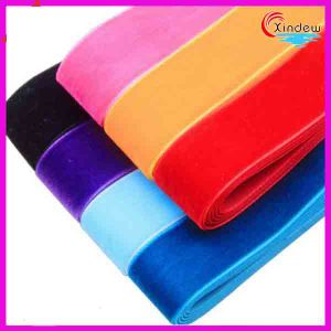 Single Face Elastic Velvet Ribbon pictures & photos