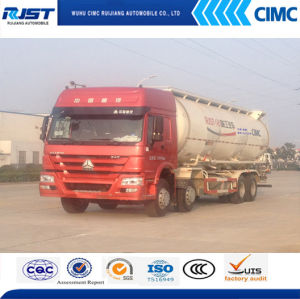 Sino Truk 8X4 Bulk Cement Tank Truck /Powder Tank Truck Cement Transport Tank Truck pictures & photos