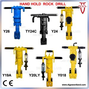 Air Pneumatic Hand Hold Rock Drill