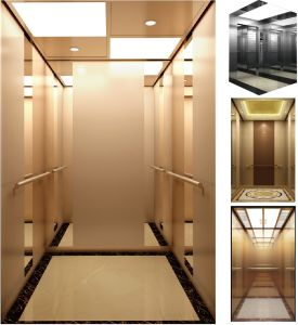 Commercial Elevators with Rose-Golden Mirror Material pictures & photos