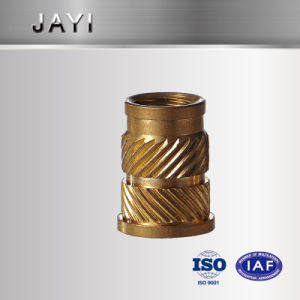 Machining Parts, Lathe Part for Insert Nut, Brass Nut, Knurling Nut pictures & photos