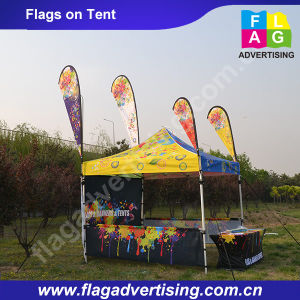 Full Color Printed Promotional Teardrop Beach Flag Banner pictures & photos