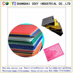 Colored PP Corrugated/Hollow Sheet for Sign Board pictures & photos