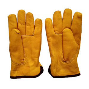 Cow Leather Winter Warm Driving Gloves with Thinsulate Full Lining pictures & photos