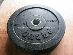 Customized Logo High-Temp Rubber Bumper Plates Manufacturer / Black with Speckle Crumb Rubber Bumper Plates pictures & photos