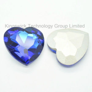 Factory Heart Shape Glass Crystal Stone pictures & photos