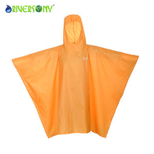 Yellow PU Pouch Rainwear pictures & photos