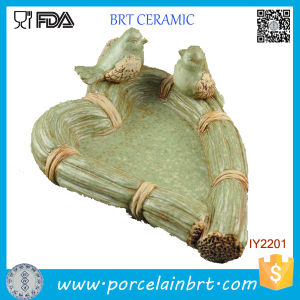 Lovely Bird Green Grass Rattan Ceramic Decor Jewelry Tray pictures & photos