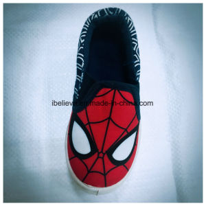 Spider Man Printing Children Footwear with Good Quality and Soft Outsole Comfortable to Walk pictures & photos
