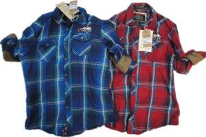 Fashion Contrast Collar Design Stripe Shirt for Men