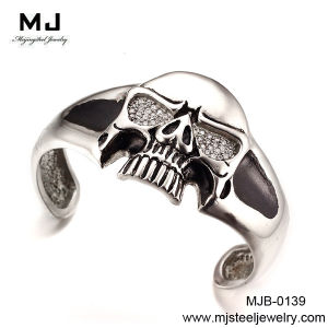 Mjb-0139 Men′s Stainless Steel Skull Bangle