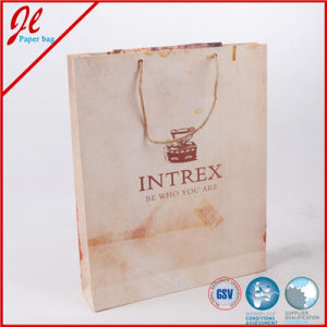 Nature Brown Printed Shopping Paper Bags with Nature Hemp Cord Handle pictures & photos