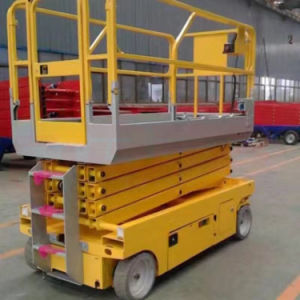 Electric Motor Lift Hydraulic Lift Work Table Window Cleaning pictures & photos