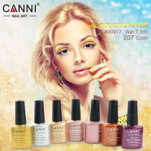 #30917W Canni Nail Art Factory Wholesale 7.3ml Soak off UV LED Polish Nail Gel 207 Color Gel