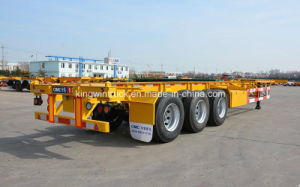China Container Semi Trailer Skelete / Flatbed pictures & photos