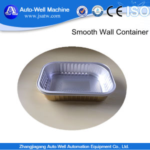 Aluminum Foil Square Container with Smooth Wall for Airline Food Package pictures & photos