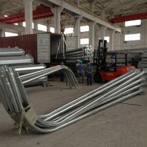 Galvanized Single Arm Street Light Steel Pole pictures & photos