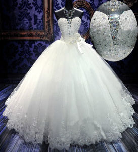 Sweetheart Crystals Wedding Dress Bridal Wedding Gown (H13363) pictures & photos