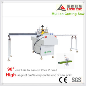 UPVC Windows Machine Mullion Cutting Machine V Shape Cut Window Double Head Cutting Saw pictures & photos