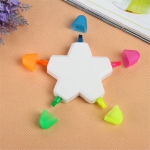 5 Colors Star Shaped Fluorescent Marker Pen for Gift pictures & photos