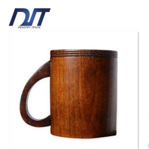 Custom Logo Health Wood Beer Mug with Handle