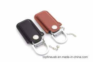 Leather USB Flash Drive Fur Key Chains Pendriver 8GB 16GB 32GB Memory Stick pictures & photos