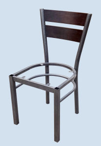 Metal Frame Dining Chair with Soft Cushion and Beech Back pictures & photos