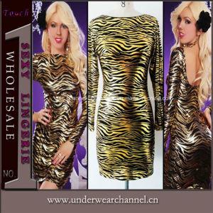 Wholesale Women Long Sleeve Cocktail Bodycon Dress, Women Clothes (4022) pictures & photos