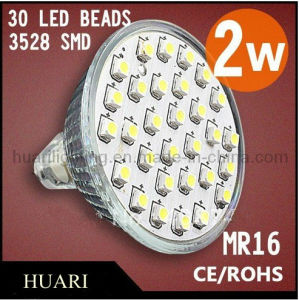 2W 3528 Spotlight/ LED Bulb AC110 --220V MR16 120 Degree CE, RoHS